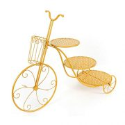 Cake Stand, 3 Tier Bike Shape Round Cupcake Holder Pie Potted Plant Stand