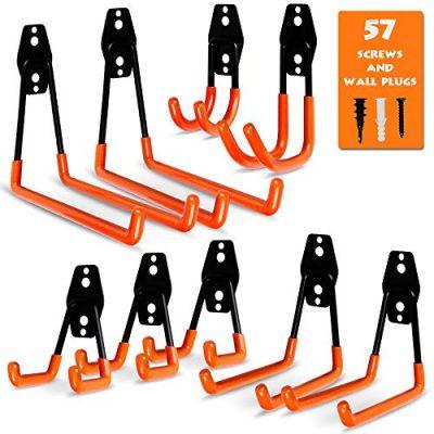Garage Storage Utility Hooks, 9 Pcs Heavy Duty Hooks for Organizing Power Tools