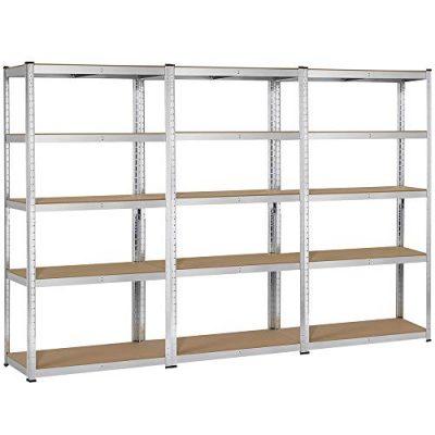 Yaheetech 3 Packs Adjustable 5-Shelf Garage Shelving Unit Steel Boltless Storage