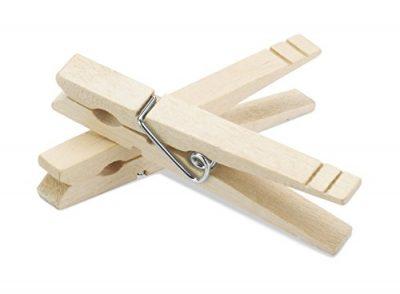 Whitmor Wood Natural Clothespins, S/100