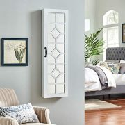 """FirsTime & Co. White Eloise Jewelry Armoire, 47"""" H x 14"""" W x 3"""" D"""
