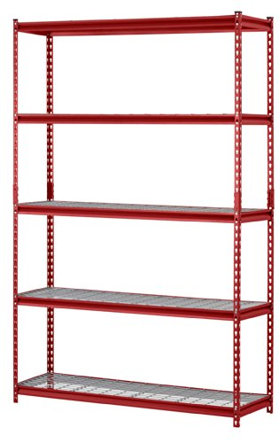 "Muscle Rack 5-Shelf Steel Shelving Unit, 30"" Width x 60"" Height x 12"" Length"