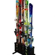 StoreYourBoard Ski Storage Rack | Freestanding 5 Pair Skis Floor Rack