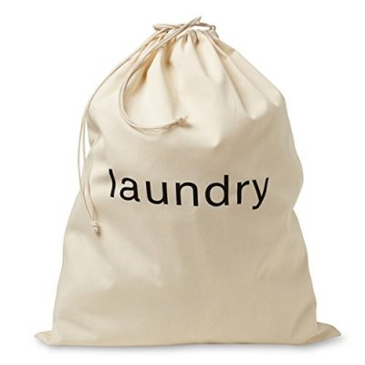 FABBPRO Cotton Canvas Cloth Fabric Laundry Bag - Stylish & Portable Natural Biodegradable Drawstring Bag - Ideal for Hotels, Airbnb's, Rental Spaces, Vacation Homes & Even Travel