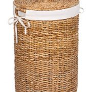 BIRDROCK HOME Seagrass Laundry Hamper with Liner - Round Clothes Bin