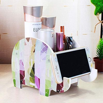 Desk Supplies Organizer, Mokani Creative Elephant Pencil Holder Multifunctional