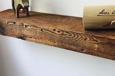 "Modern Timber Craft 12"" W x 7"" D x 2 3/4"" H Rustic, Fireplace Mantel Shelf"