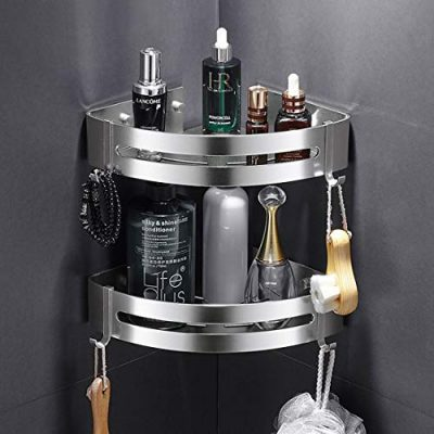AK KYC Shower Corner Shelf Shower Caddy Wall Mounted Aluminum Bathroom