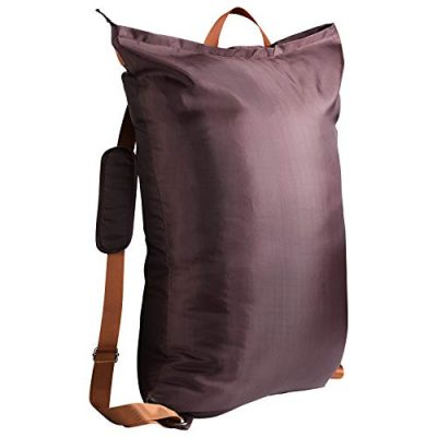 """Large Laundry Bag『24""""X34""""』with Zipper,KSMA College Laundry Backpack with 2 Strong Adjustable Shoulder Straps for College Students Apartment Dorm-Room(Brown)"""
