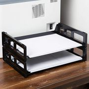 """1InTheOffice Desk Tray, Side Load Letter Tray""""4 Pack"""""""