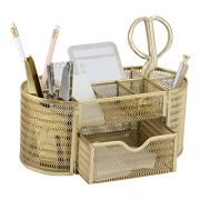 Beautiful Gold Desk Organizer - Made of Metal with Gold Finish