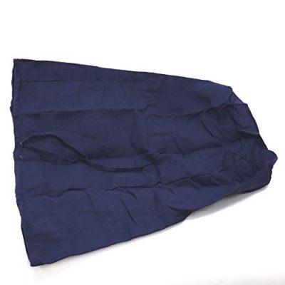 Redmon Rectangular Willow Hamper Cloth Solid Navy Liner