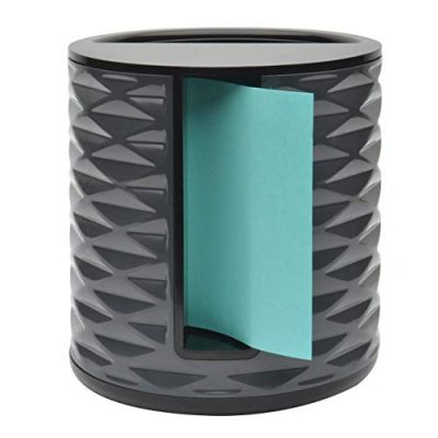 Post-it Note Dispenser, Vertical, Black with Grey