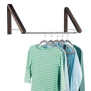 mDesign Expandable Metal Wall Mount Clothes Air Drying Rack