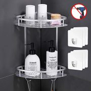 Flowmist 2 Tiers Corner Shower Caddy, Shower Organizer