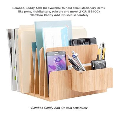 MobileVision Bamboo Desktop File Folder Organizer and Paper Tray