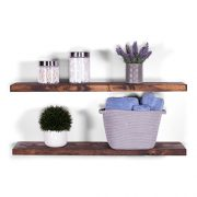 "DAKODA LOVE 36"" x 8"" Rugged Distressed Solid Wood Floating Shelves"