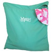 """Wheeky Pets Laundry Helper, Laundry Bag for Pet Beds, Fleece, C&C Cage Liners, Midwest Cage Liners and More, for Guinea Pigs, Rabbits and Small Pets, Green/White, Size 29"""" W x 31"""" L"""