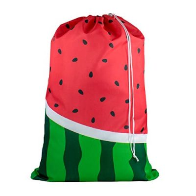 Large Laundry Bag - Store Dirty Clothes at Summer Camp, College Dorm, or Home - 16 Designs Available - 24 x 32 inches (Watermelon)