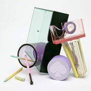 Kate Spade New York Green Acrylic Office Supplies Desk Organizer Letter Tray