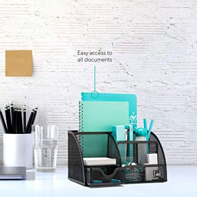 Mindspace Office Desk Organizer with 6 Compartments + Drawer