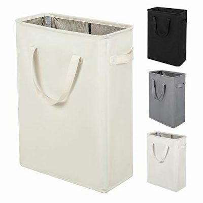 ZERO JET LAG Slim Laundry Hamper with Handles Thin Laundry Bin Collapsible