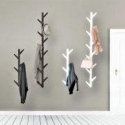 Wall Mounted Coat Rack Bamboo Tree Shaped Hanger