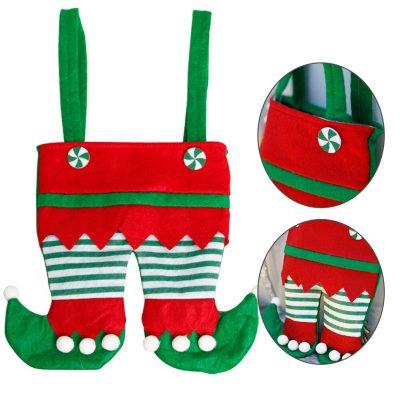Santa PantS Christmas Candy Bag Gift Wrap Kids
