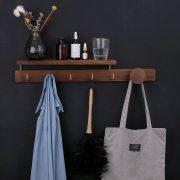 Wood Hanger Wall Hat Rack