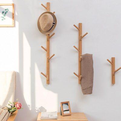 New 8/11 Hooks Coat Rack Wall Solid Wood Wall Hanging