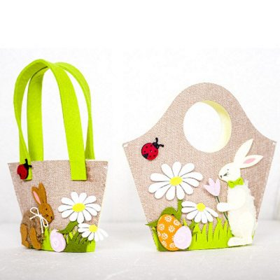 Gift Wrap Storage Handbags Rabbits Eggs Flowers