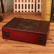 Wooden Storage Jewelry Box Big Vintage Wood Box