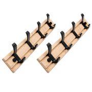 2Pcs Bedroom Furniture Coat Rack Clothes Hanger Hooks