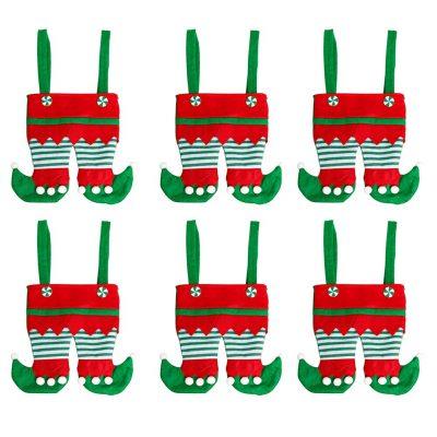 Treat Santa PantS Portable Gift Wrap Baskets
