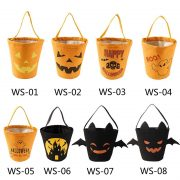 Halloween Bucket Gift Wrap Cotton Handbag