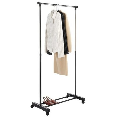 Dual-bar Vertical & Horizontal Stretching Stand Clothes Rack