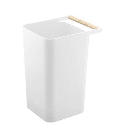 White Como Trash Can