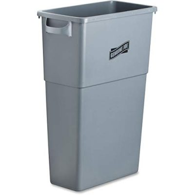 Plastic Space Saving Waste Container, 23 gallon