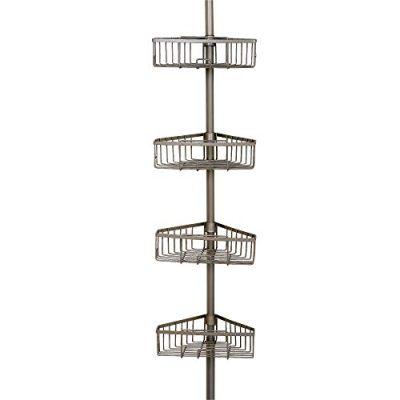 Rust-Resistant Tension Corner Pole Caddy