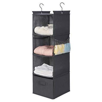 MAX Houser 4-Shelf Hanging Closet Organizer,Space Saver