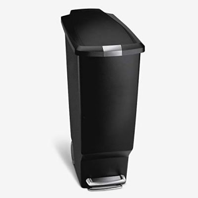 Kitchen Step Trash Can With Secure Slide Lock, 40 Liter