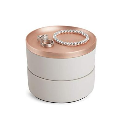 Two-Tier Resin Storage Container with Removable Lid