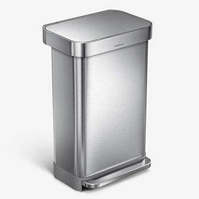 simplehuman 45 Liter Rectangular Hands-Free Kitchen Step
