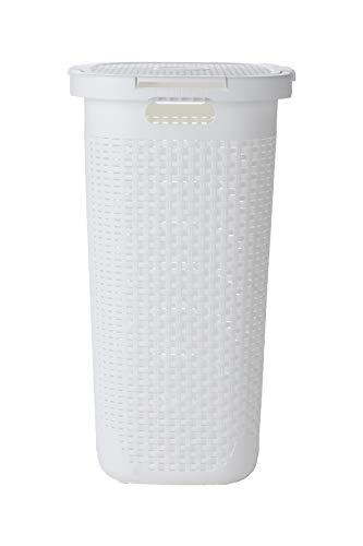 Mind Reader Basket Laundry Hamper with Cutout Handles