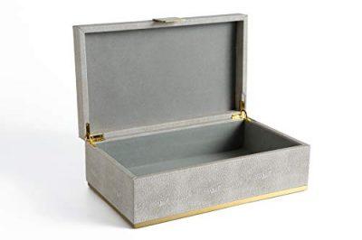 Leather Dresser Organizer Storage Box, Jewelry Box for Men's Accessories
