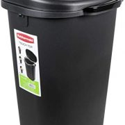 Touch Top Lid Trash Can Bathroom Garbage