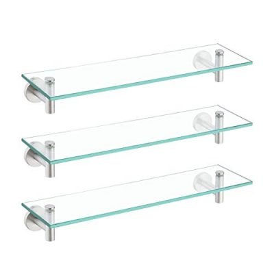 KES Glass Shelf for Bathroom Rectangular, 20-Inch Floating Shelves