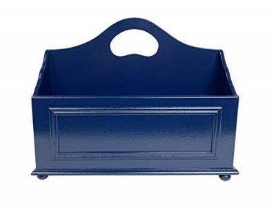 Wooden Storage Basket for Books, Newspapers