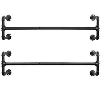 Wall-Mounted Clothes Rack Industrial Pipe Clothes Hanging Bar