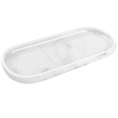 Resin Marble Pattern Soap Tray Bathtub Tray